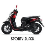 Warna All New Honda Scoopy Sporty Black