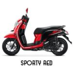 Warna All New Honda Scoopy Sporty Red