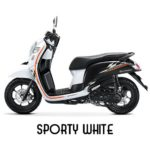 Warna All New Honda Scoopy Sporty White