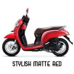 Warna All New Honda Scoopy Stylish Matte Red