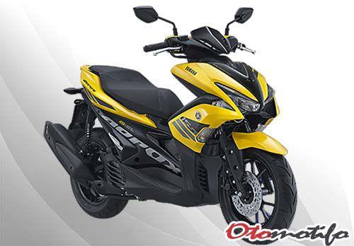 Gambar Yamaha Aerox 155 Standar Yellow