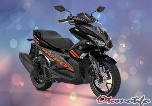 Gambar Yamaha Aerox 155 2018 Standar Hitam