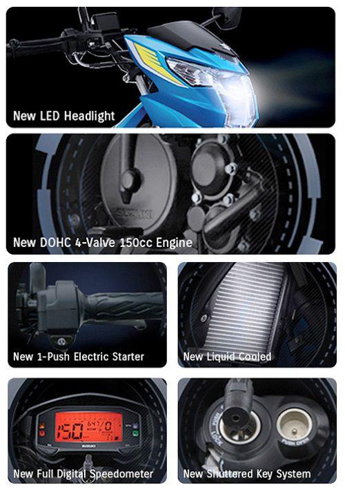 Fitur All New Suzuki Satria F150
