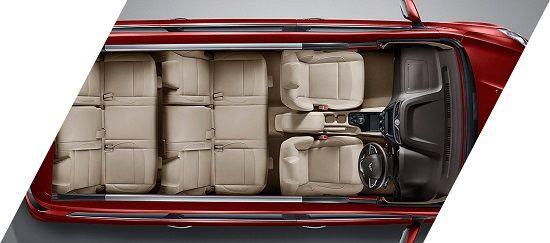 Interior Wuling Confero S 8 Seater