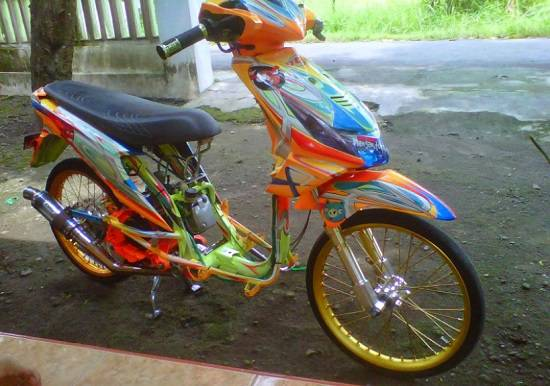 Modifikasi Honda Beat FI Airbrush