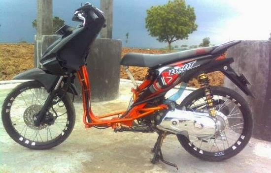 Modifikasi Motor Beat Drag Style
