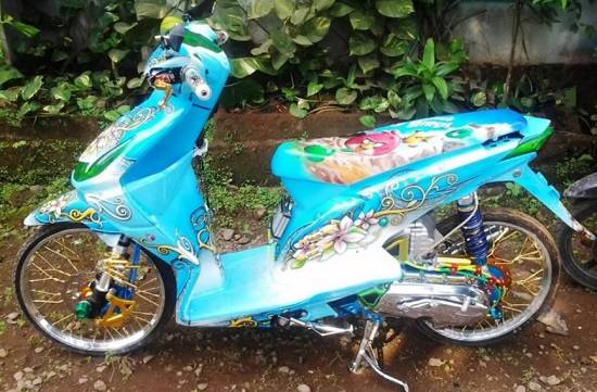 Modifikasi Motor Beat Fi Airbrush