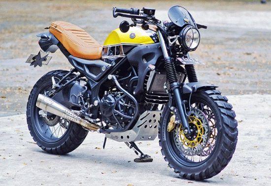 Modifikasi Motor Yamaha R25 Scrambler