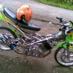 Modifikasi Suzuki Satria FU Chrome