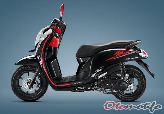 Warna Honda Scoopy Sporty Black