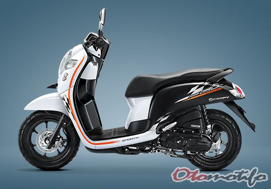 Warna Honda Scoopy Sporty White