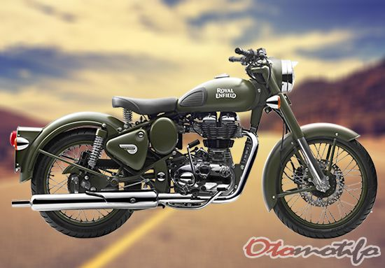 Gambar Royal Enfield Classic Battle Green