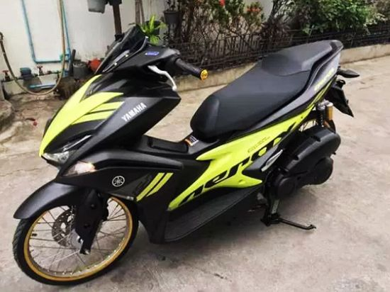 Modifikasi Aerox 155 Velg Jari Jari Ring 17