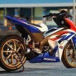 Modifikasi Honda Blade 125 Limbah Moge