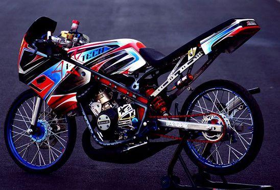 Modifikasi Kawasaki Ninja RR Velg Jari Jari