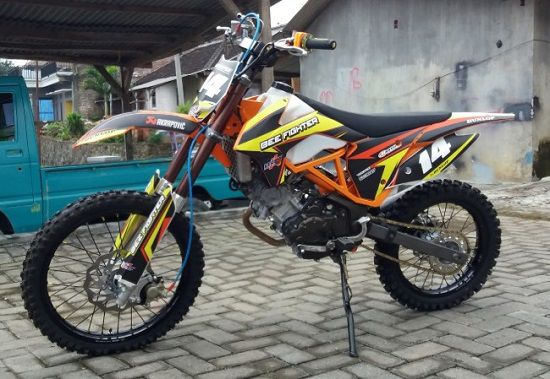 Fotor Modifikasi Motor Trail Jupiter MX