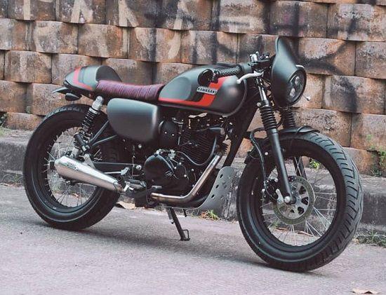 Gambar Modifikasi Kawasaki W175 Cafe Racer