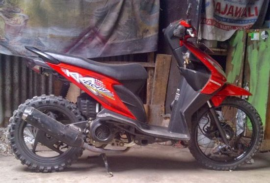 Modifikasi Motor Trail Honda Beat