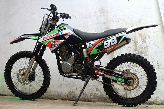 Modifikasi Motor Trail Honda Tiger