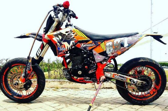Yamaha Scorpio Modif Trail Supermoto