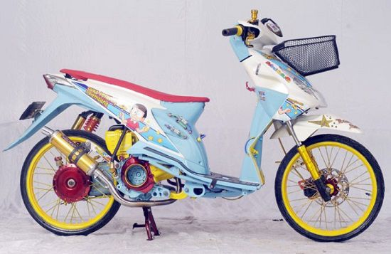 Modifikasi Motor Matic Beat