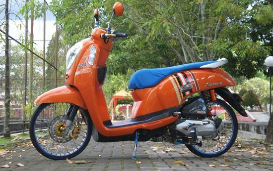 Modifikasi Motor Scoopy Simple