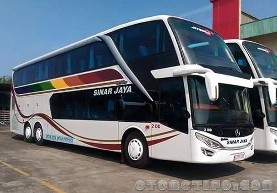 Gambar Bus Sinar Jaya Double Decker