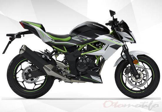 Gambar Kawasaki Z150 Tampak Samping