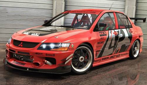 Modif Balap Sedan Lancer Evo