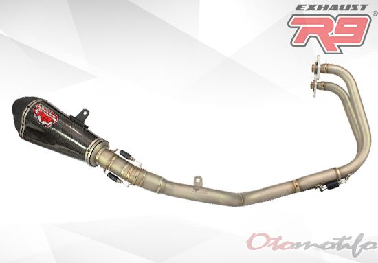 Harga Knalpot R9 Austin Carbon Stainless