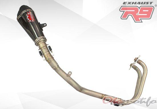 Harga Knalpot R9 Austin Carbon Titanium