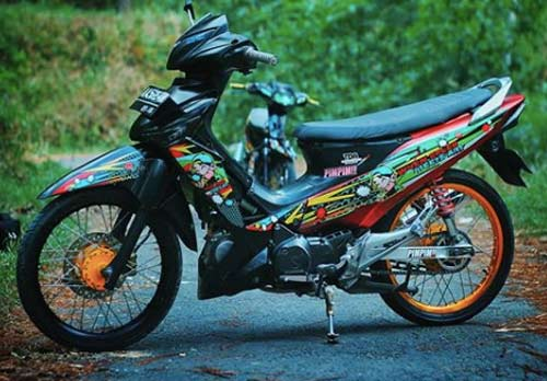 Modifikasi Supra X 125 Simple Minimalis