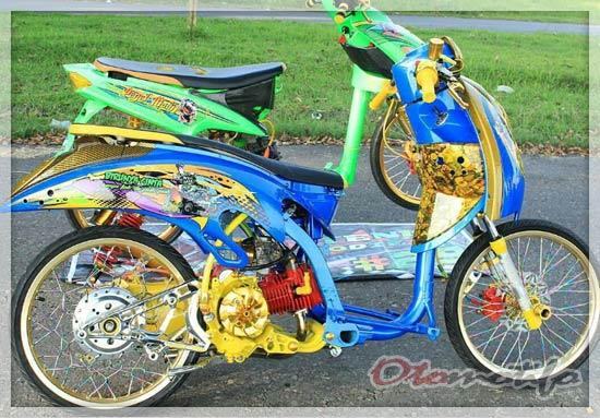 Modifikasi Honda Scoopy Drag Style