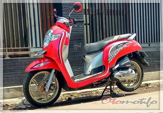 Modifikasi Velg Honda Scoopy