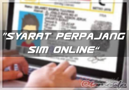 Syarat Perpanjangan Sim Online