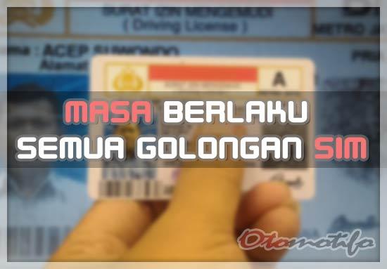 Masa Berlaku SIM