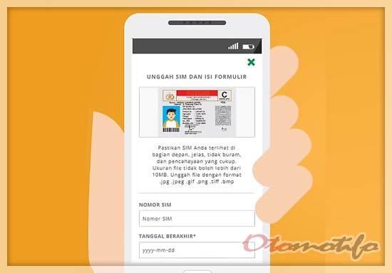 Upload Foto SIM Gojek