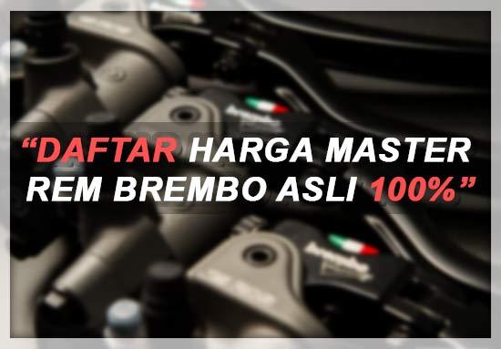 Harga Master Rem Brembo Original