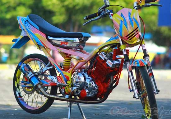 Foto Motor Satria FU Airbrush