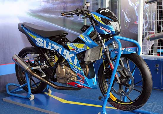 Modifikasi Suzuki Satria F150 Road Race