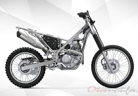 Rangka Motor Trail Kawasaki 230cc