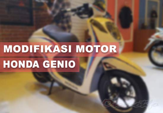 Modifikasi Motor Genio Cafe Racer