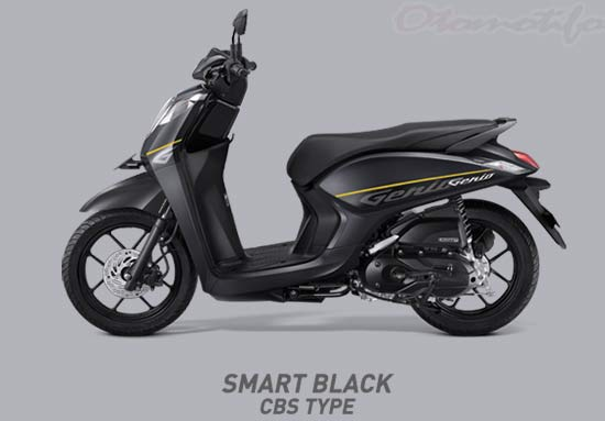 Warna Motor Genio Black