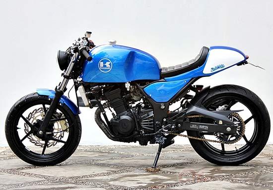 Gambar Modifikasi Kawasaki Ninja 250 Cafe Racer