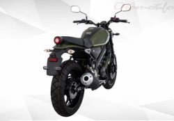 Warna Yamaha XSR 155 Hitam Hijau