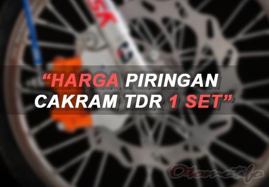 Harga Piringan Cakram TDR 1 Set