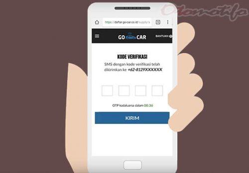 Verifikasi SMS Daftar Go Car