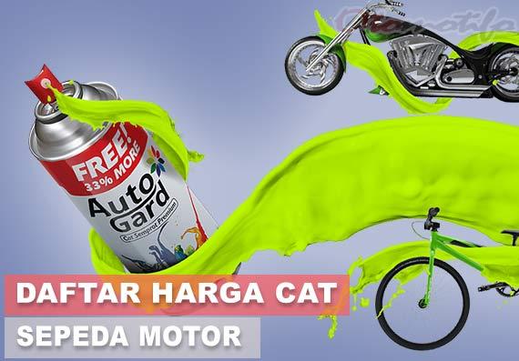 Daftar Harga Cat Motor