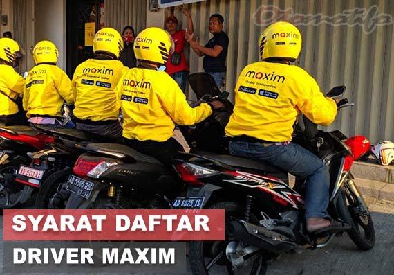 Syarat Daftar Driver Maxim