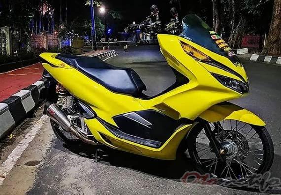 Modifikasi Motor PCX Kuning